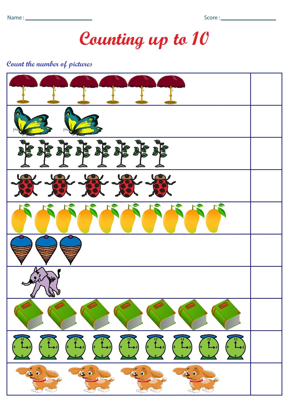 Kindergarten Worksheets October