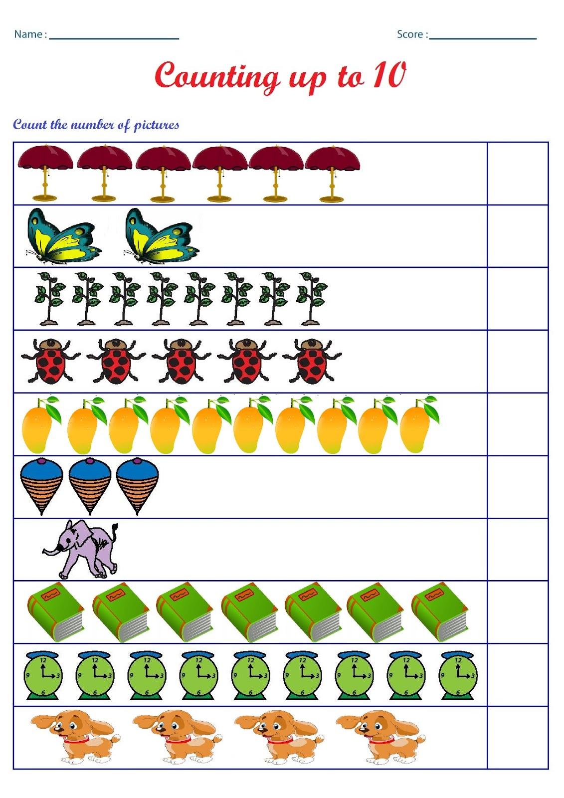 Kindergarten Worksheets: October 2015
