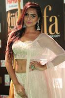 Prajna Actress in backless Cream Choli and transparent saree at IIFA Utsavam Awards 2017 0132.JPG