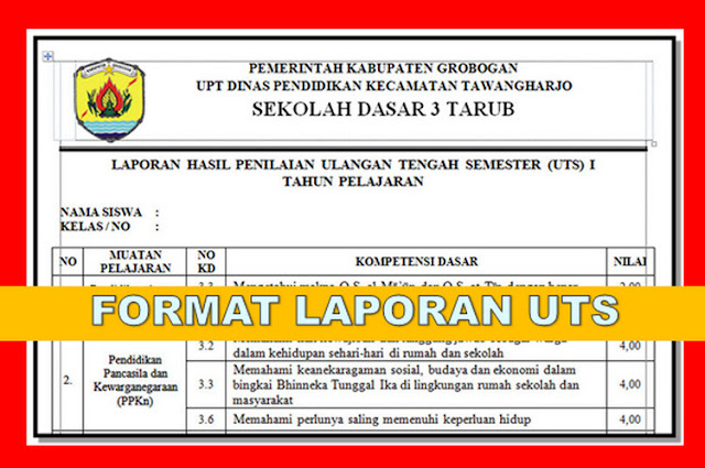 Contoh Laporan Hasil Observasi Sekolah Kurikulum 2013