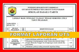 Format Laporan Hasil UTS Kurikulum 2013