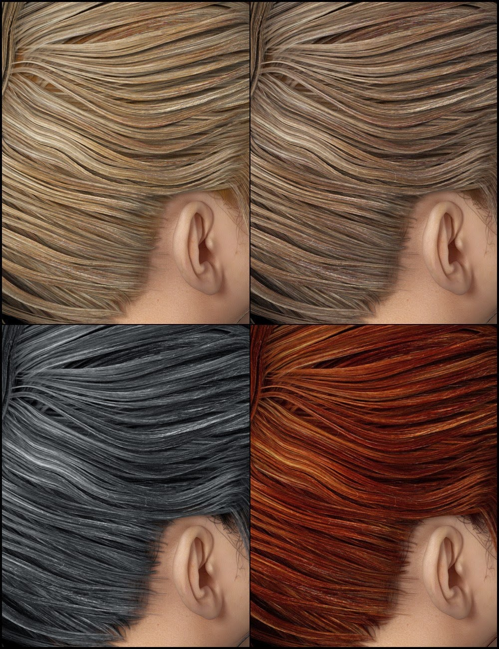 Colors for NJA Ponytail Hair