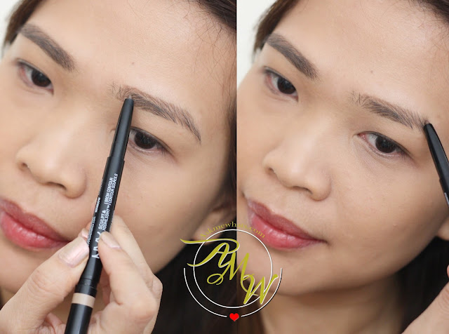 a photo of how to use NYX Sculpt and Highlight Brow Contour Review