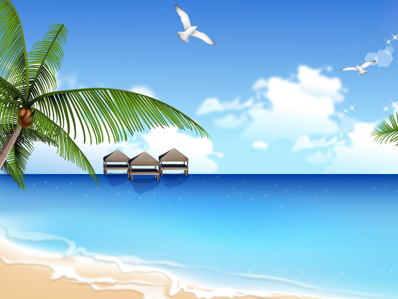 Wallpapers: Vector Beach
