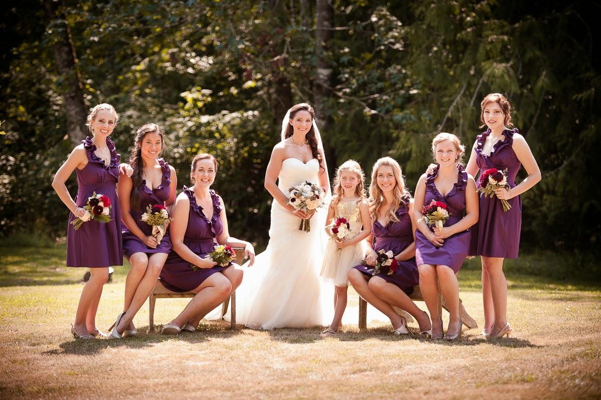 Independent Designer: Real Wedding: Plum Bridesmaid Dress