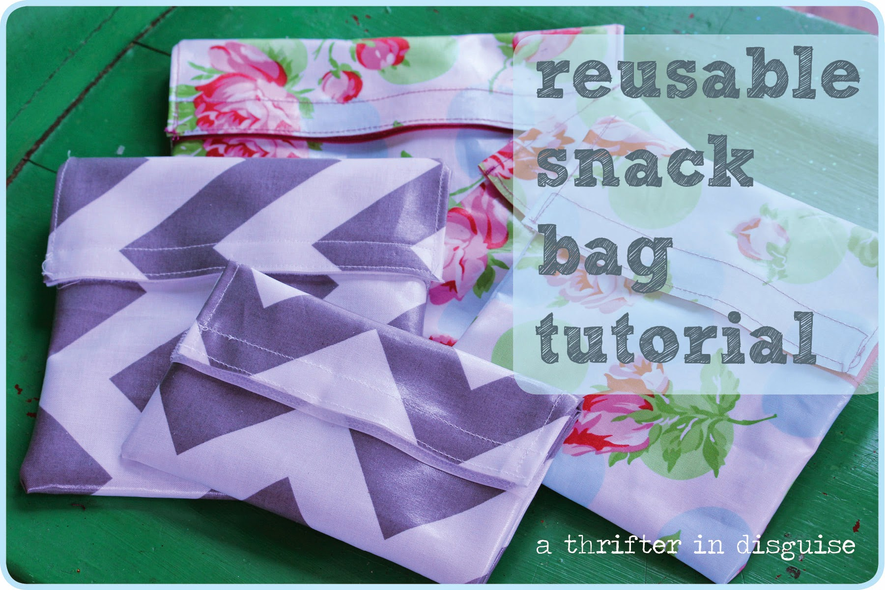 Dishwasher-safe reusable snack bags via thrifterindisguise.com