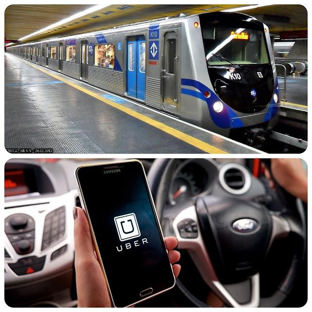 Metrô e Uber em SP