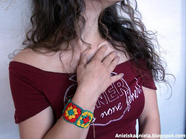 wzór na szydełko,jak nauszyć się szydełkować,diy,tutorial,crochet,bransoletka,bransoletki,pattern,wzór,wykrój