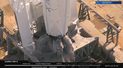 Falcon 9 in hold-down clamps