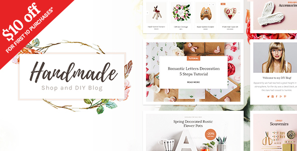 Handmade Shop - Handicraft Portfolio Blog & Creative Shop WordPress Theme