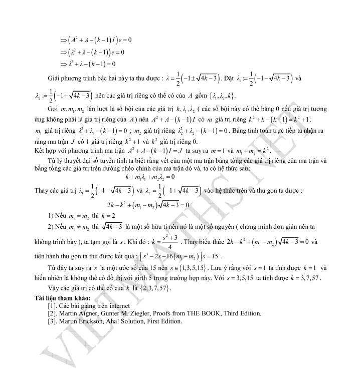 Bài toán girth cho đồ thị phần 2