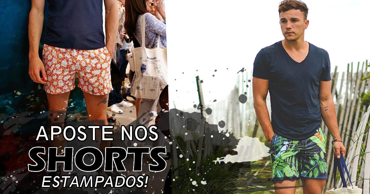 Shorts estampados Masculinos