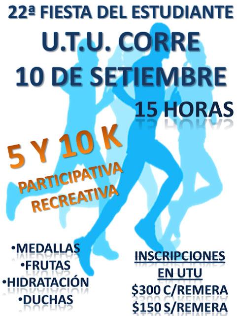 10k y 5k UTU corre en Nueva Palmira (Colonia, 10/sep/2016)