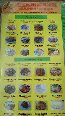 Warung Mie Aceh Meuligoe solo