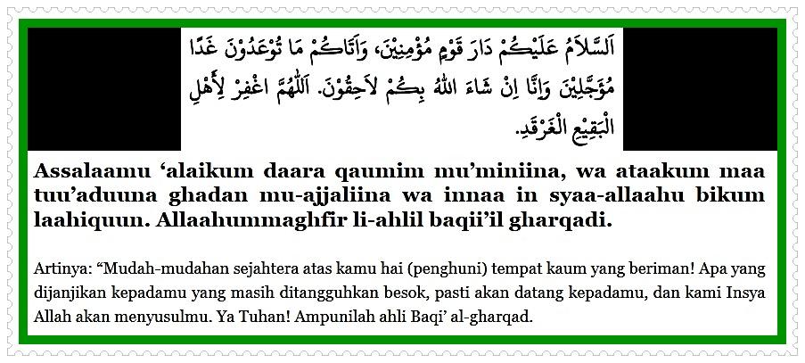 Image Doa Salam Sewaktu Berziarah Di Baqi