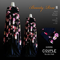 mukena couples Beauty Rose Black