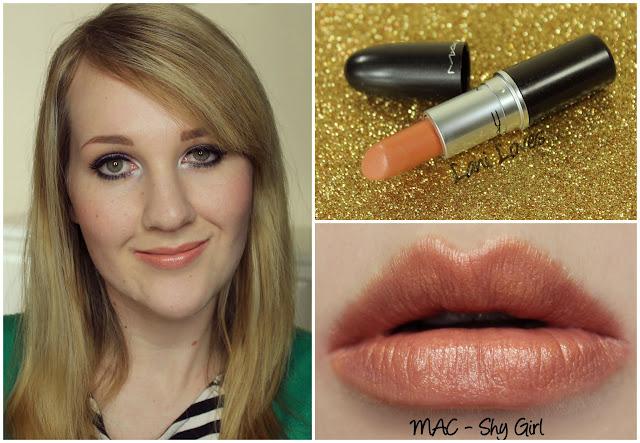 MAC Shy Girl lipstick swatch