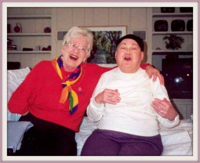 Gloria Miller and Shirley Kellogg, my dear Auntie Gloria and my mom