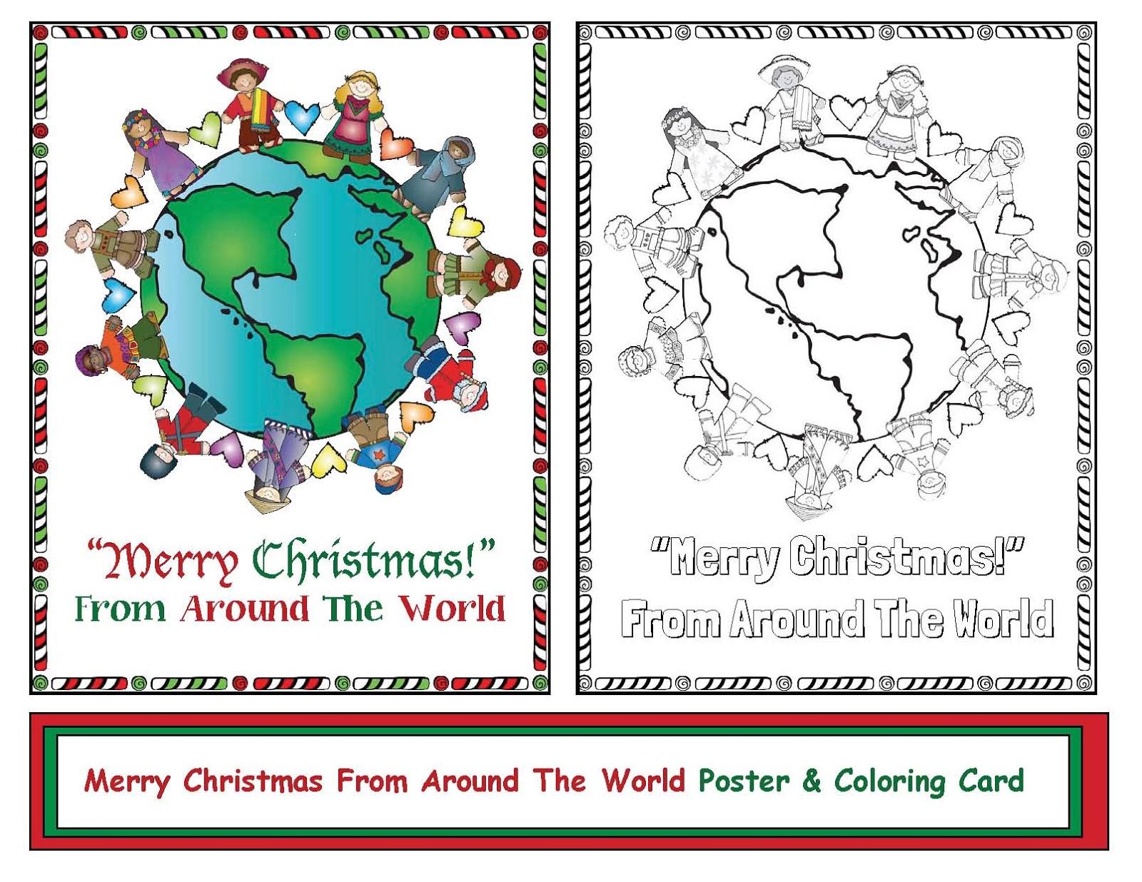 Christmas around the world greeting card classroom freebies christmas around the world greeting card m4hsunfo