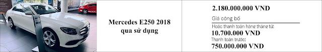 Giá xe Mercedes E250 2018 hấp dẫn bất ngờ