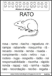 Fichas de leitura - letra R