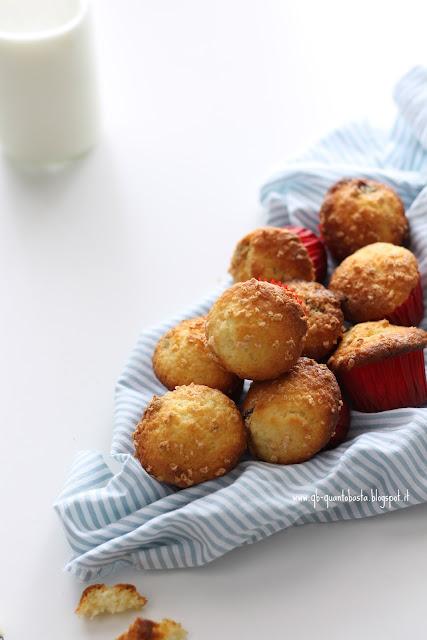 muffin al cioccolato bianco e frutti rossi