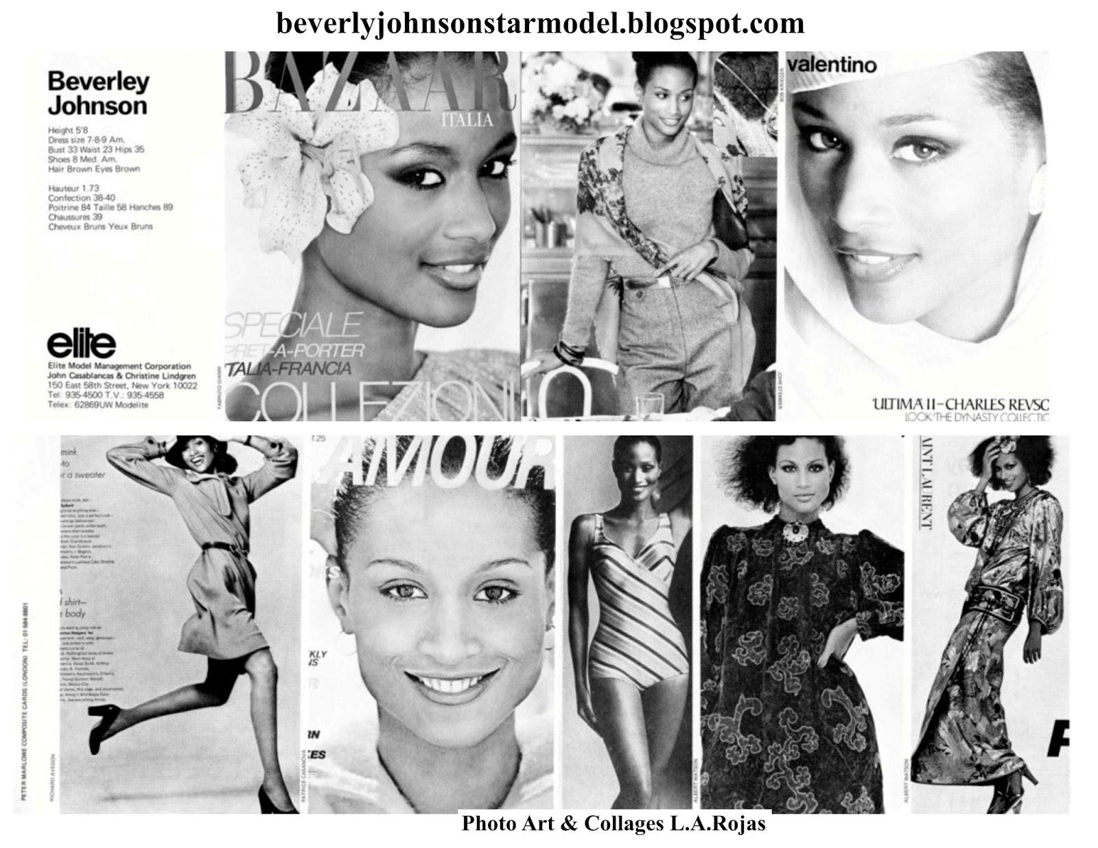 1980's Beverly Johnson Model Agency Cards | Beverly Johnson Star Model