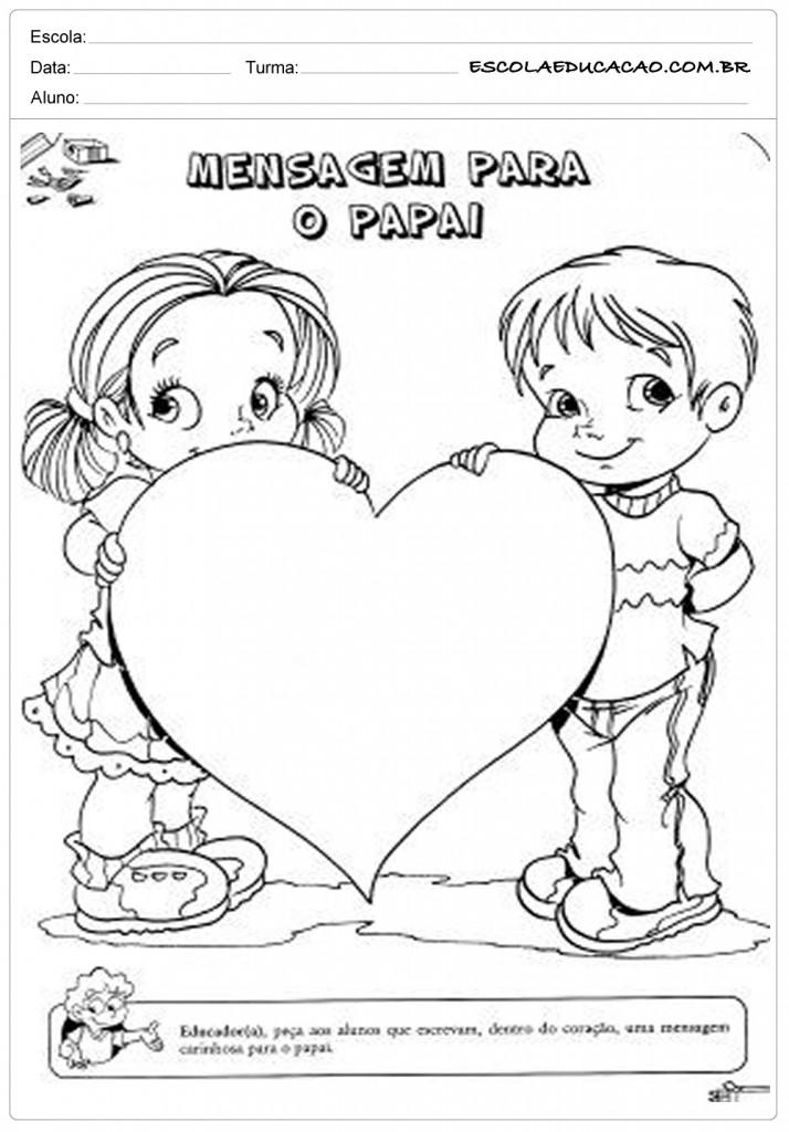 Mensagens e Lembrancinhas para o dia dos Pais para Imprimir