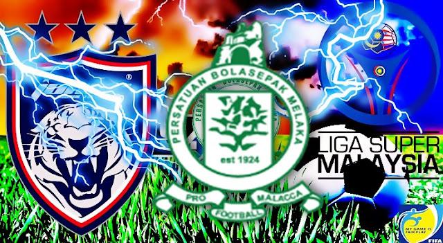 Live Streaming Keputusan Melaka United vs JDT Liga Super  6 Mei 2017