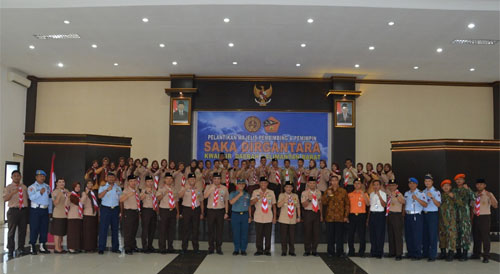 Pelantikan Majelis Pembimbing dan Pimpinan Satuan Karya Pramuka. Foto dari Kepala Penerangan Pangkalan TNI AU Supadio