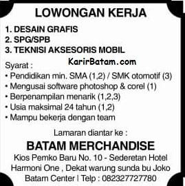 Lowongan Kerja PT. Batam Merchandise Indonesia