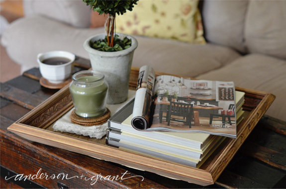 Reclaimed Wood Tray DIY Project | www.andersonandgrant.com