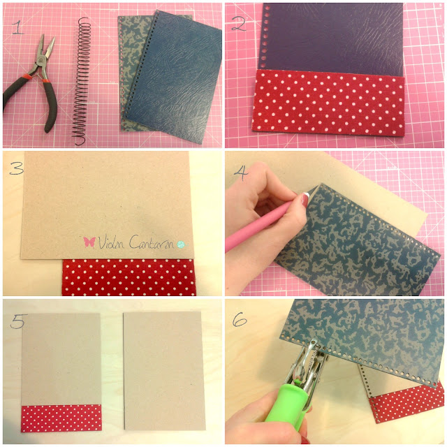 Tutorial, scrapbook, tela adhesiva, Violín Cantarín