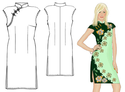 The Vintage Pattern Files: Free 1930's Sewing Pattern - Cheongsam