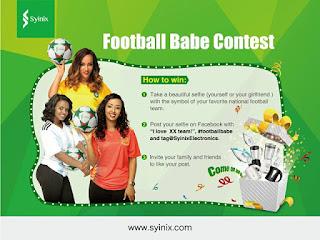 Syinix%2BNigeria%2BPromos%2Bin%2BNigeria%2Bblog Win Syinix products and Become Ambassador at Syinix #footballbabe contest