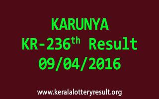 KARUNYA KR 236 Lottery Result 9-4-2016