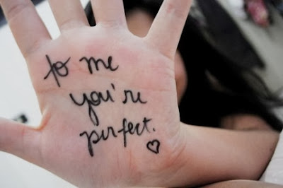message d'amour sur ma main