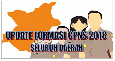 Update Formasi CPNS 2018 Seluruh Daerah Format PDF