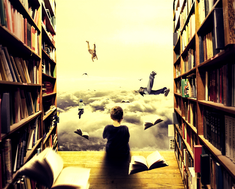 16-The-Library-xetobyte-Norvz-Austria-A Hobby-of-Surreal-Photo-Manipulations-www-designstack-co