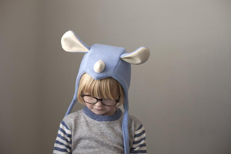 diy rhino hat fleece play imagination animal