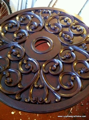 diy painted ceiling medallions