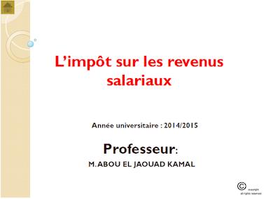 L'impôt sur les revenus salariaux
