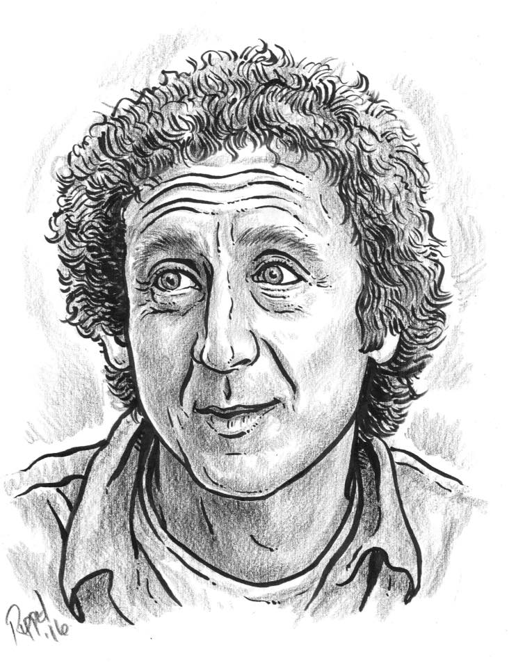 Caricature by Randy Ruppel - RIP Gene Wilder