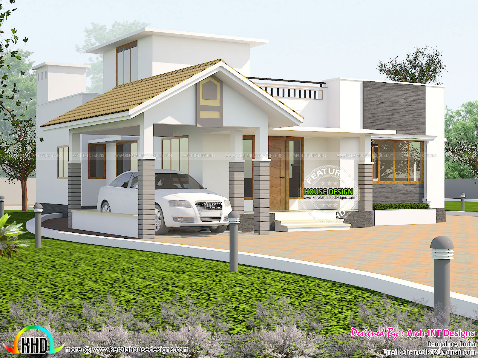 Ground floor house plan - Kerala home design and floor plans