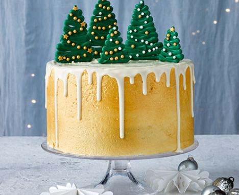 Pure gold Christmas drip cake