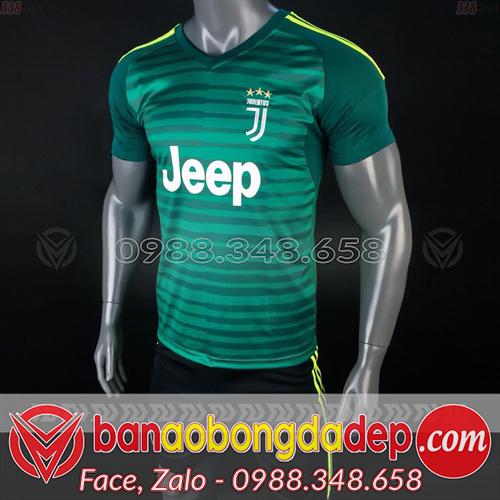 Áo Juventus xanh lá 2019 training 3