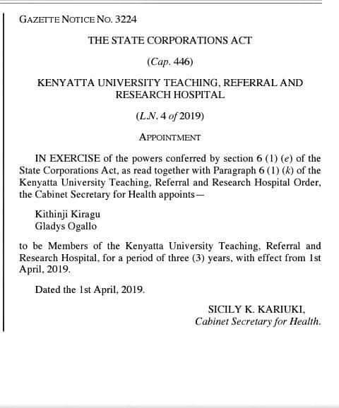 Prof  Olive Mugenda appointed to chair Kenyatta University