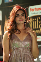 Telugu Actress Aarthi in Deep Neck Backless Golden Gown at IIFA Utsavam Awards 2017 Exclusive 34.JPG