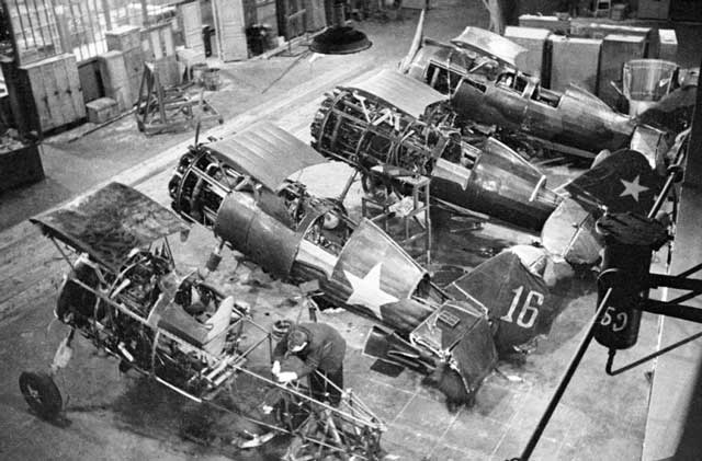 I-15 fighters being repaired in Moscow, 22 December 1941 worldwartwo.filminspector.com