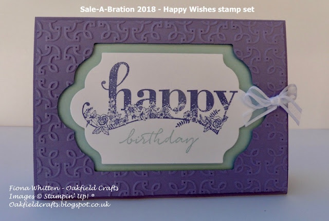 Happy Wishes, Oakfieldcrafts, Stampin' Up!, birthday